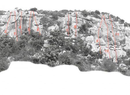 FALESIA DELLE CENTO CORDE – 23 percorsi di arrampicata